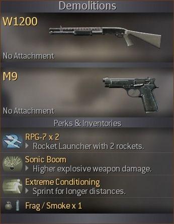 Классы Call of Duty 4