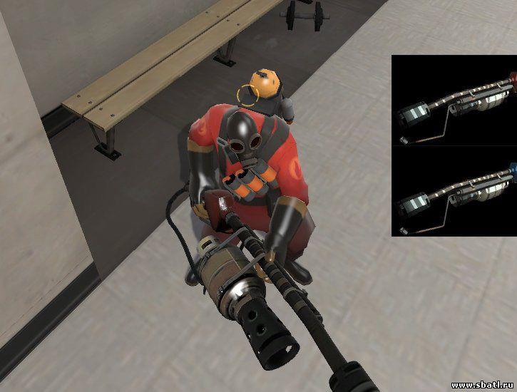 Team Fortress 2 модель оружия - огнемет Improved Flamethrowerk